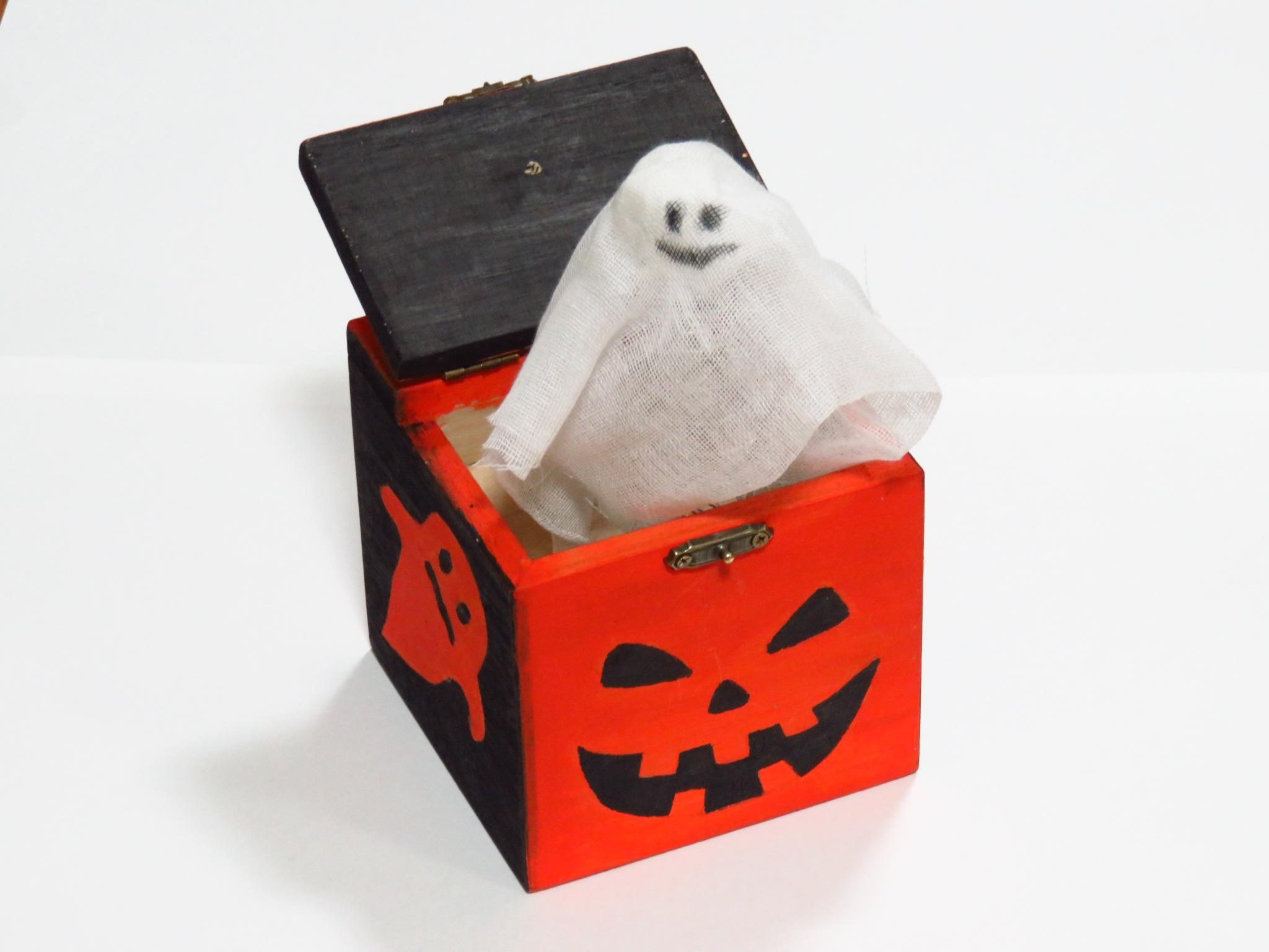 のうしトンカチ塾10月びっくりハロウィン貯金箱見本