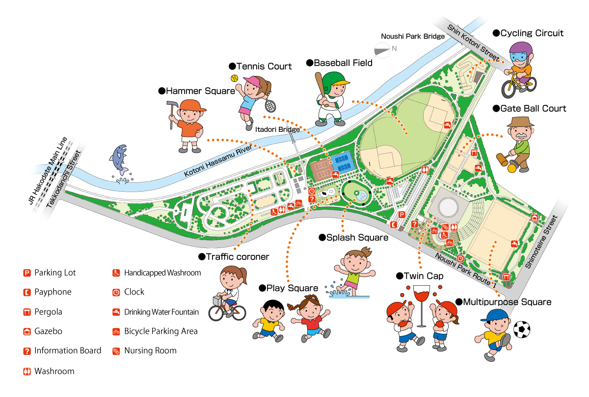 Map of Noushi park